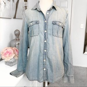 ☆J Crew☆ Chambray Blouse